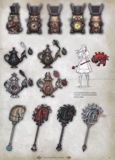 Alice Madness Returns- Upgrading weapons styles: Clockwork Bomb, Teapot Cannon, Hobby Horse.