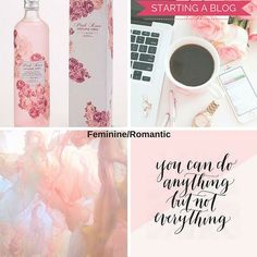 How to Build a Visual Vocabulary: Creating a Fabulous Brand Identity. A feminine and romantic mood board and color palette. See more on www.designyourownblog.com