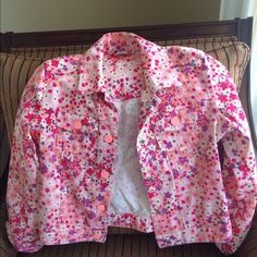 Gap jeans outfit Gap jeans jacket (kids, size M), super skinny collection, matching jeans size 7 regular AND bonus! Extra matching pink jeans , size 7 regular. Great condition. GAP Other
