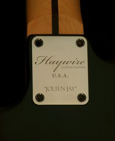 Haywire Custom Guitar for Jolten Jay Langton1 | Welcome To H… | Flickr Guitar Body, Custom Guitars, Jay