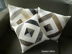 Beautiful quilted pillows from Sparkys_mom for Linky Tuesday Oct 4th