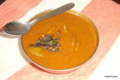 Menaskai or Mango gojju is a sweet, tangy and spicy curry that can be prepared with any tangy vegetable or fruit.