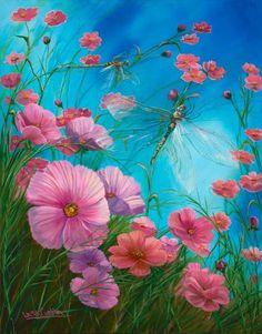 Wildlife Art - Dragonflies - Art Gallery - A Singular Creation Laura Curtin