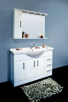 1200mm Classic white bathroom vanity basin unit. Available at http://www.plumb-bay.com