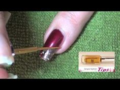www.SimpleNailArtTips.com - CHRISTMAS NAIL ART DESIGN IDEAS Burgundy Gold Diagonal French Nail Art Tutorial Video