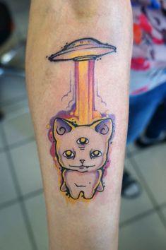 instagram.com/stepanova_victoria #tattoo #ink #tat #art #tattooartist #tattooart #tattoos #inked #tattooed #tattoist #tatts #tattooer #russiantattooers #russiantattoo #tattooer #tattoomaster #tatted #colortattoo #cat #sleepingcat #cattattoo #handtattoo #armtattoo #cosmo #astro #ufo
