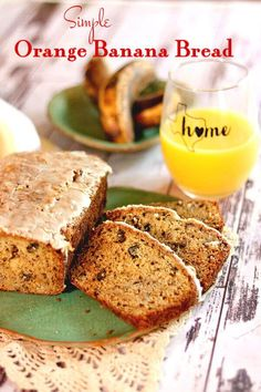 You Have Meals Poisoning More Normally Than You're Thinking That Your Whole Family Will Love This Moist, Easy Banana Bread Recipe With An Orange Glaze Via Maryerestlesschipotle Easy Brunch Recipes, Quick Bread Recipes, Easy Delicious Recipes, Tasty, Party Recipes, Cooking Recipes, Banana Nut Bread Easy, Banana Bread Recipes, Banana Chocolate Chip Muffins