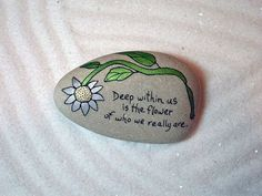 Stone PoemHand Painted stone with a message by QuietDove on Etsy, $21.00