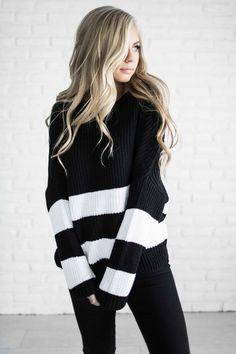 sweater, fashion, style, jessakae, shop, stripe sweater