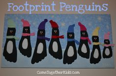 Adorable Family Holiday Project: Footprint Penguins