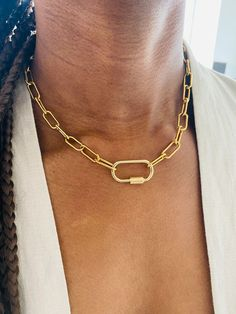 Chunky Gold Necklaces, Gold Choker Necklace, Unique Necklaces, Custom Necklaces, Etsy Jewelry, Custom Jewelry, Jewelry Shop, Big Gold Chains, Personalized Gifts For Mom