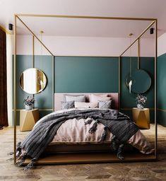 10 Bedroom Trends for 2019 - Schlafzimmer Design 2018 - Bedroom Decor Bedroom Wall Paint Colors, Art Deco Bedroom, Home Decor Bedroom, Bedroom Furniture, Grey Furniture, Decor Room, Furniture Ideas, Furniture Design, Farmhouse Master Bedroom