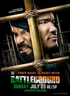 Battleground is a professional wrestling pay-per-view (PPV) event and WWE Network event produced by WWE for the SmackDown brand. Wrestling Posters, Wrestling Wwe, Streaming Movies, Hd Movies, Movie Film, Movies Online, Wwe Events, Wwe Ppv, Jinder Mahal