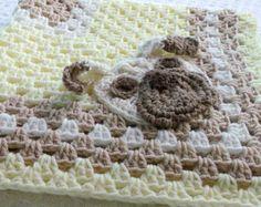Crochet Pug Baby Blanket
