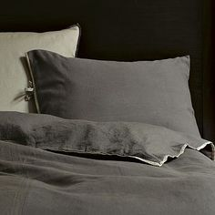 Linen Cotton Duvet Cover + Shams - Slate #westelm