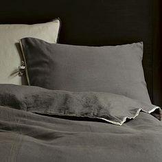 Linen Cotton Duvet Cover + Shams - Slate #WestElm