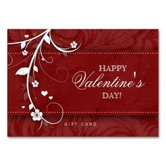 Salon gift card spa valentines day red hearts salons spa and salon gift card spa flower floral red hearts business card template colourmoves Image collections