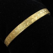 Victorian Gold-filled Engraved Hinged Bangle