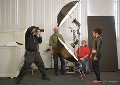 Clamshell Lighting Demo by ianspiers.com, via Flickr