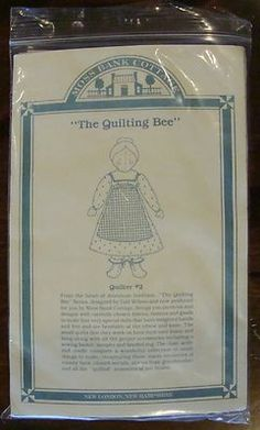 Gail Wilson Moss Bank Cottage Doll kit Quilting Bee Series - Quilter 2
