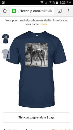 New line of Wild Vibes Cat Horse Shirts help the homless campaign. Each purchase results in a donation to homeless shelters in colorado with your name (if wanted) on the donation letter. Thanks and have a great day :) also looking for models once the business grows