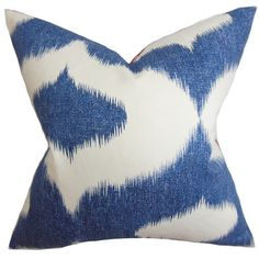 Liven up a seating area with the rich blue and interesting pattern found in this throw pillow. | $62