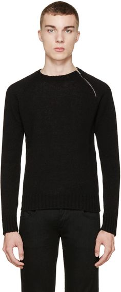 Saint Laurent - Black Zipper Sweater