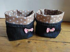Utensilos & Stoffkörbchen - Jeans - Utensilo - ein Designerstück von RosaModern bei DaWanda