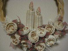 可愛い籐の花でクリスマスリース | I like...