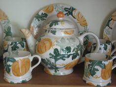 Emma Bridgewater Pumpkin Collection (Emma Bridgewater Official Facebook Page) Emma Bridgewater Pottery, My Emma, Ceramic Teapots, Stoke On Trent, Tea Pots, Pumpkin, Ceramics, Mugs, Tableware