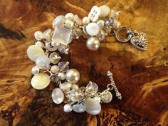 Antique/Vintage Button Wedding keepsake Bracelet 7 inches. $65.00, via Etsy.