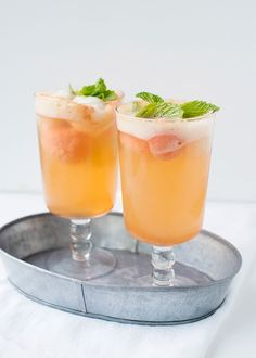 Refreshing Summer cocktails including the NorCal Margarita, Sangria Verde, Tangerine Fizz, Prosecco Sorbet cocktail, Prosecco Raspberry Cooler. Cocktails Champagne, Spring Cocktails, Cocktail Menu, Summer Drinks, Fun Drinks, Cocktail Recipes, Beverages, Prosecco Drinks, Mixed Drinks