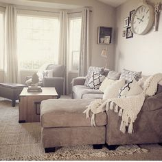 Apartment Living Room Carpet Pillows 32 New Ideas Bedroom Carpet, Living Room Carpet, New Living Room, Interior Design Living Room, Home And Living, Living Room Furniture, Home Furniture, Living Room Decor, Taupe Living Room