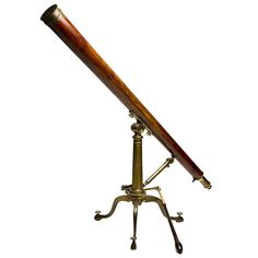 English Mahogany Telescope. Signed Dollond. #1stdibs #English_Antiques [room accessories]