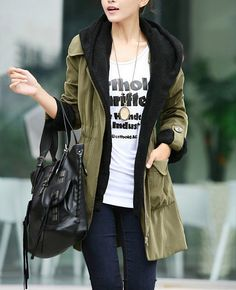 Women Amy Green Jacket Hooded Long Jacket Hood Coat Cape Army Green Hoodie Spring Coat Jacket  M,L,XL auf Etsy, 40,96 €