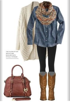 Casual fall/winter outfit; everyone needs a pair of tall boots this season!