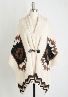 Come Vail Away Cardigan. When the mountains call, this cardigan sees to it that youre wrapped in laid-back loveliness during your travels. #cream #modcloth