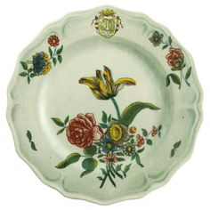 John Derian Company Inc — Melamine Faience Fleurs Isolees Dinner Plate - for our picnic basket