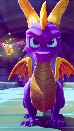 Spyro the dragon and Sparx Mythological Creatures, Fantasy Creatures, Mythical Creatures, Fantasy Dragon, Dragon Art, Video Game Art, Video Games, Legos, Skylanders Spyro