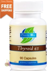 Thyroid 65 mg 90 caps. Priority One products may only be purchased by Health Care Professionals. #thyroidsupport #health #nutrition