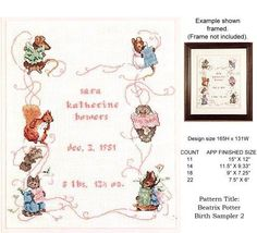 Beatrix Potter Birth Sampler II (Book 551) by Jeanne Bowers, http://www.amazon.com/dp/B000J41RTK/ref=cm_sw_r_pi_dp_fS15rb1TSNW8T