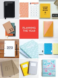 Design Crush » Planning the New Year...I love notebooks and planners