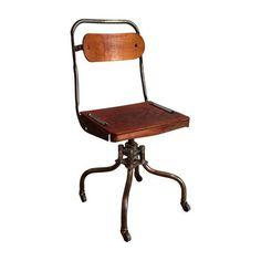 Industrial Wood U0026 Metal Drafting Chair