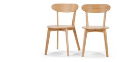 2 x Fjord Dining Chairs, Oak | made.com