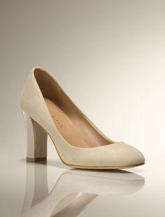 Talbots - Grace Suede Chunky-Heel Pump | Heels | Medium