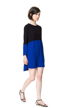 TWO-TONE COMBINED DRESS from Zara