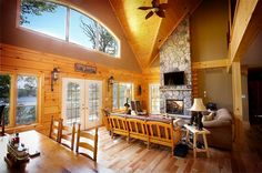 Colonial Concepts Log & Timberframe - Log home interior Cabins And Cottages, Log Cabins, Timber Frame Homes, Home Photo, Log Homes, Colonial, Log Log, White Pines, Floor Plans