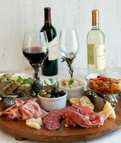 Deluxe Antipasto Platter: 10 Easy Romantic Dinners - mom.me. Now this is the way to celebrate.