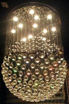 http://www.harmony.net -   LED Lighting Contemporary Crystal Ball Chandelier Crystal Hanging Lamp Optic Fiber Chandelier Lighting
