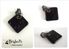 Wire Wrapped Glass Constellation of Scorpio Pendant
